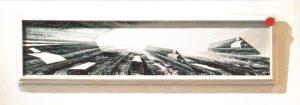 John Maibohm Galleria Arttime Udine, Magische Athmosphären, Feld 3 / Campo III, collage, 2018, 42 x 12 cm ( SOLD